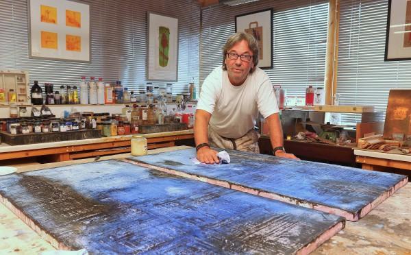 Johannes Donner in seinem Atelier