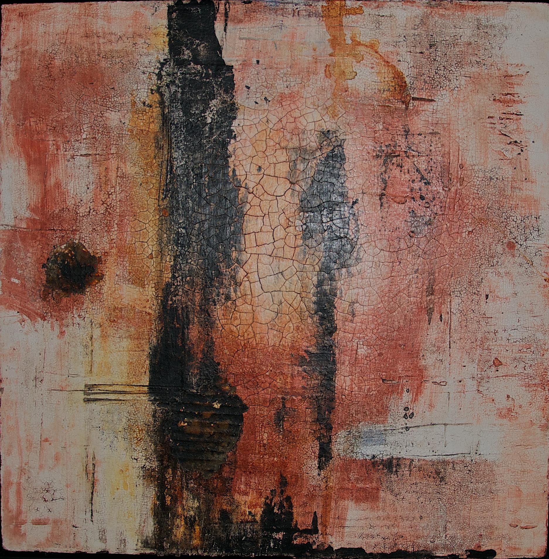 Fresko/Intonaco_Sumpfkalk_Pigmente_Wachs_Tusche_Beize_Bauplatte_60 x 60 cm