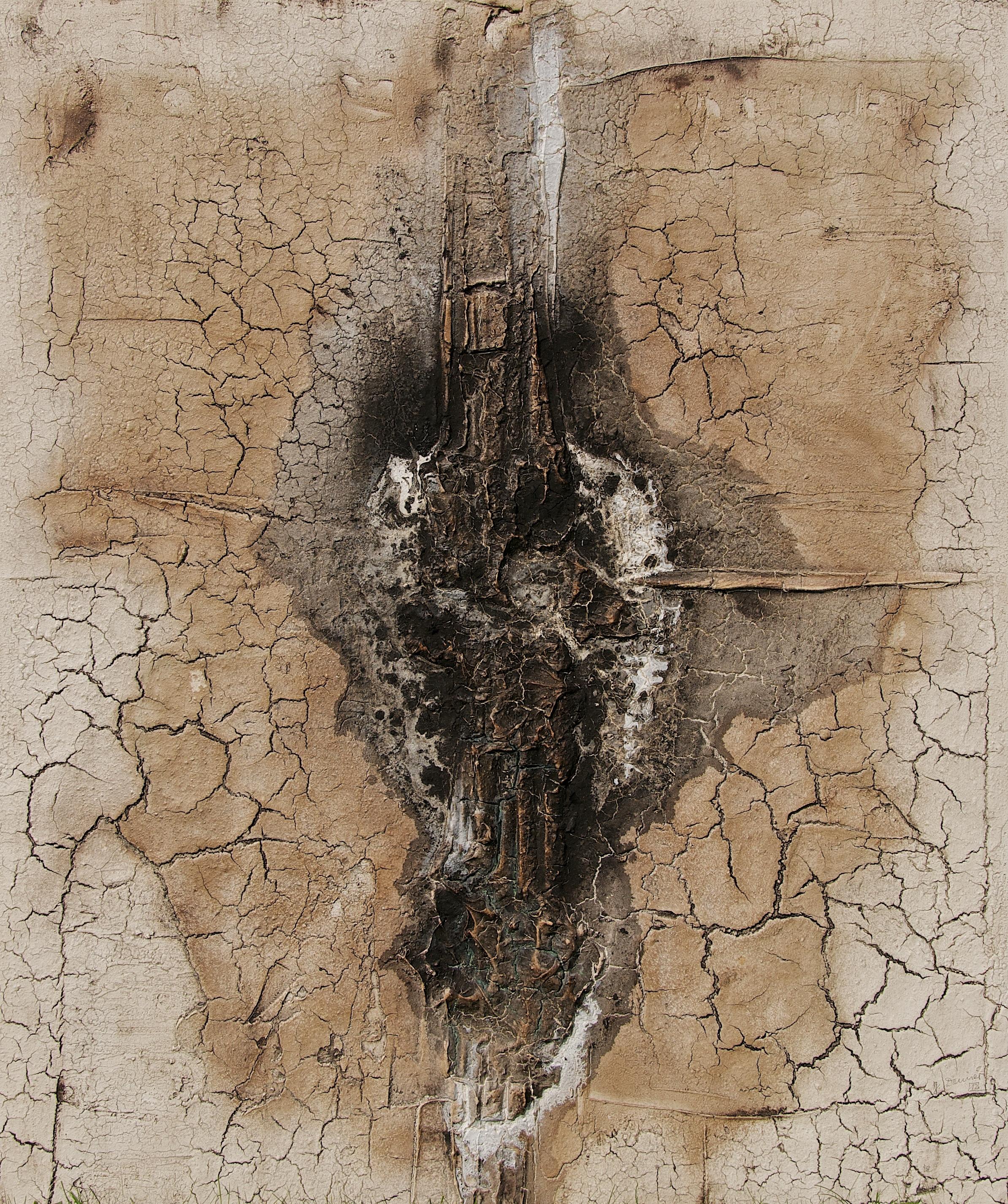 Leinwand_Marmormehl_Pigmente_Mohnöl_Beize_Dispersionsbinder_100 x 120 cm