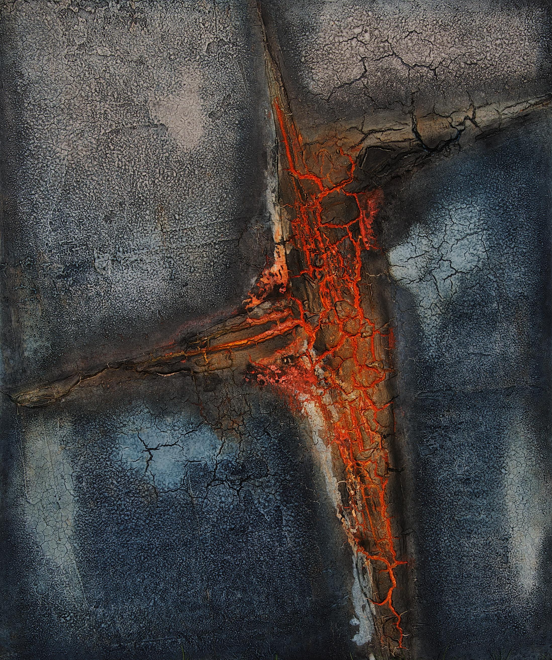 Leinwand_Marmormehl_Pigmente_Mohnöl_Beize_Schellack_100 x 120 cm